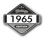 VIntage Edition 1965 Classic Retro Cafe Racer Design External Vinyl Car Motorcyle Sticker 85x70mm